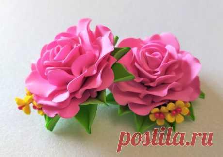 Простая роза из фома для начинающих без опыта – цветок для заколки или броши