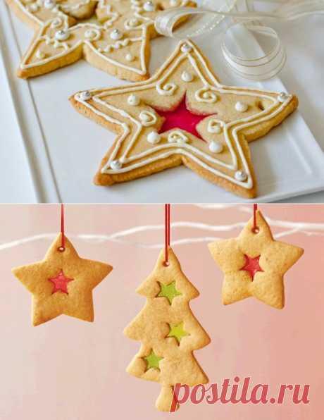 Новогоднее печенье на елку. Пошаговый фото урок+идеи для уркашения. | Выпечка