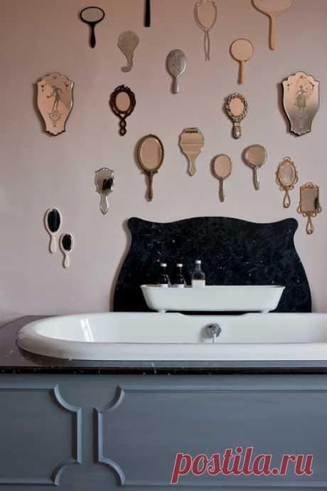 Группа зеркал на стене: 20 стильных примеров | ELLEDECORATION