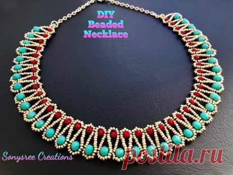 Party Wear Beautiful Beaded Necklace.DIY jewelry. Easy Tutorial 💞 Rondelle Necklace