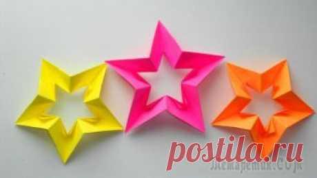 Звезда из бумаги. Оригами поделки к Дню Победы 9 мая, 23 февраля, Новый год Скоро наступит памятный день 9 мая - Великий День победы и лучшим детским подарком дедушке, отцу или брату станет звезда. Нашу звездочку мы сделаем из бумаги в технике оригами, для этого понадобится б...