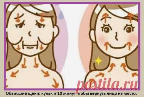 Обвисшие щеки: кулак и 10 минут чтобы вернуть лицо на место. Для того чтобы подтянуть овал и вернуть свои щеки на место, вам понадобиться кулак и всего 10 минут. За несколько недель вы сможете устранить поникшие щеки, которые сильно старят лицо.