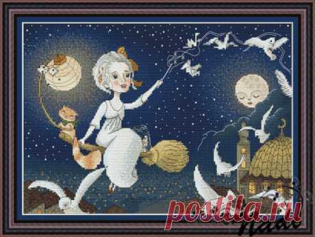 Gallery.ru / Ночная фея - Авторские схемы от Надежды Казариной - dizainshem