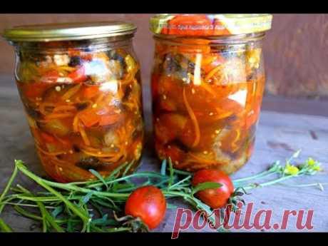 Самый ВКУСНЫЙ салат из баклажан на ЗИМУ готовим дома баклажаны на зиму
