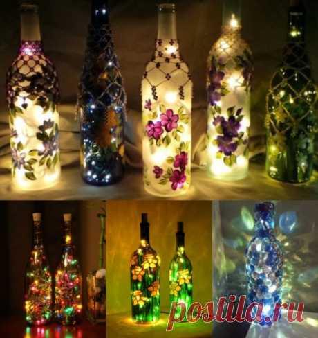 20крутых идей для декора изобычных бутылок