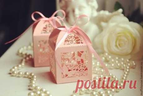 """Купить Бонбоньерка """"Розовые бабочки"""" - розовый, бабочки в животе, свадьба, свадебные бонбоньерки, бабочки свадебные"""