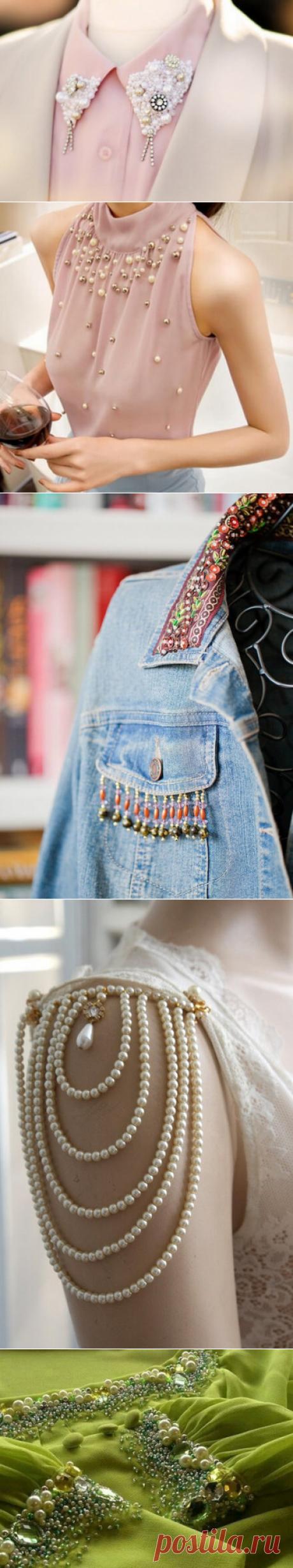 Декор одежды бусинами, бисером и стразами: 33 идеи… | Тысяча и одна идея