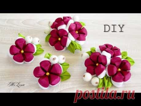 CLIPS WITH FLOWERS, MK \/ DIY KANZASHI FLOWERS HAIR CLIP