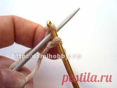 Легкий и быстрый набор петель на одну спицу с помощью крючка - Сам себе волшебник