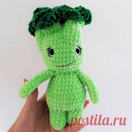 PDF Мистер Брокколини крючком. FREE crochet pattern; Аmigurumi vegetable patterns. Амигуруми схемы и описания на русском. Вязаные игрушки и поделки своими руками #amimore - брокколи овощ.