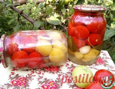 Маринованные помидоры с яблоками без уксуса – кулинарный рецепт