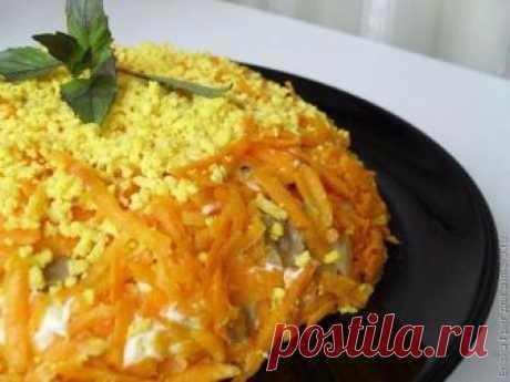 """Салат """"Оранж"""" - яркий и вкусный, потому что не простой! Весь секрет в особом приготовлении!"""