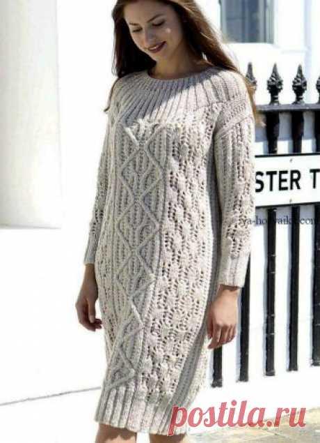 Тёплое платье спицами схема выкройка. Связать теплое платье спицами схемы Вязаное платье от Maisie Smith. Тёплое платье спицами схема выкройка.