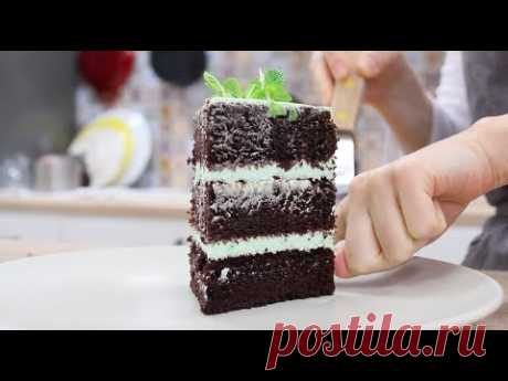 Biscuit Cake MEGA CHOCOLATE and MINT \/ Chocolate Mint Cake