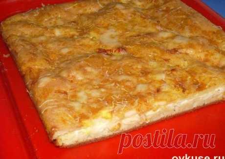 Заливной пирог с сыром - классный перекус мез мороки - be1issimo.ru Один из любимых пирогов, который готовила еще моя бабушка,— это наливной пирог с сыром. Вкус у этого пирога просто необыкновенный. Это один из моих любимых рецептов, который я храню уже очень много лет и балую этой вкуснятиной своих родных. Ингредиенты: 1,5 стакана муки, 1,5 стакана сметаны, 3 яйца, 3 ст.л. растительного масла, соль по вкусу, […]