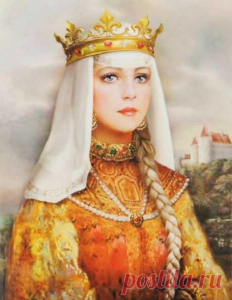 Анна Русская Анна Ярославна - королева Франции. Дочь Ярослава Мудрого. Это самая древняя представительница нашего рейтинга - жила аж в 11 веке. У Ярослава все дочери были настоящими русскими красавицами, но младшая Анна была просто ослепительна.