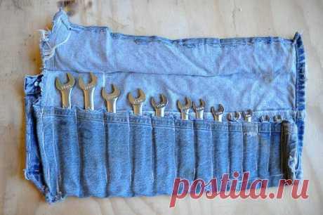Идеи, что сшить для дачи из старых джинсов |