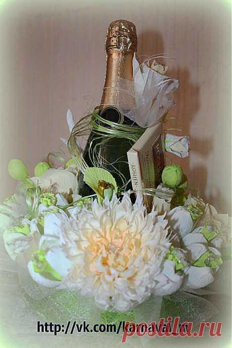 Хризантема из конфет | Конфетный рай