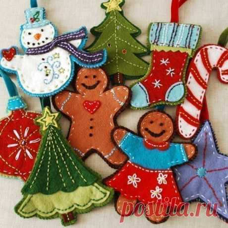 Christmas decorations, Christmas tree decorations the hands \/ Ornament for the house by a holiday. Packing of gifts, gift boxes the hands \/ Kluklu. Needlework - beadwork, a kvilling, an embroidery a cross, knitting