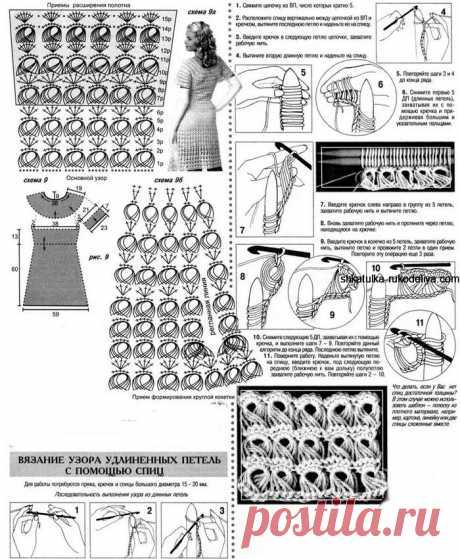 Летнее платье крючком. Платья крючком модные модели схемы 2021 | Шкатулка рукоделия. Сайт для рукодельниц.