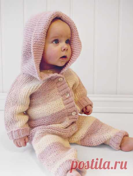 Комбинезон спицами с капюшоном для новорожденного | Моё хобби.Вязание для детей. | Яндекс Дзен