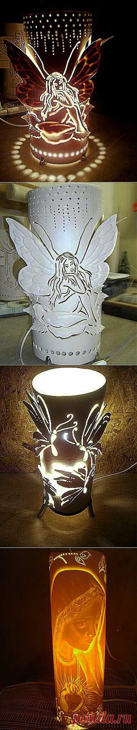 (+1) - | MAKE lamps for a nursery of a plastic pipe!