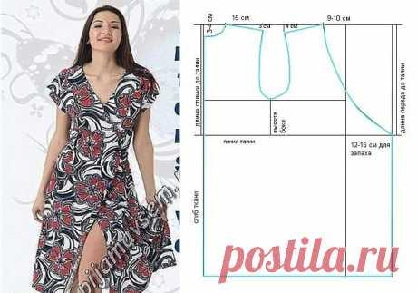 Простая выкройка платья на запах Модная одежда и дизайн интерьера своими руками