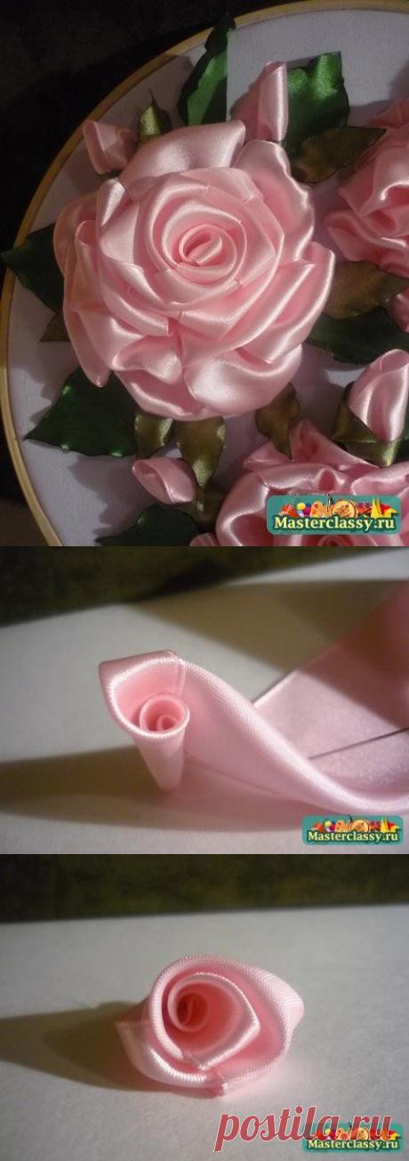 Объемная вышивка прекрасной розы — Сделай сам, идеи для творчества - DIY Ideas
