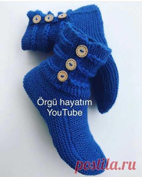 Носки с манжетом на пуговицах