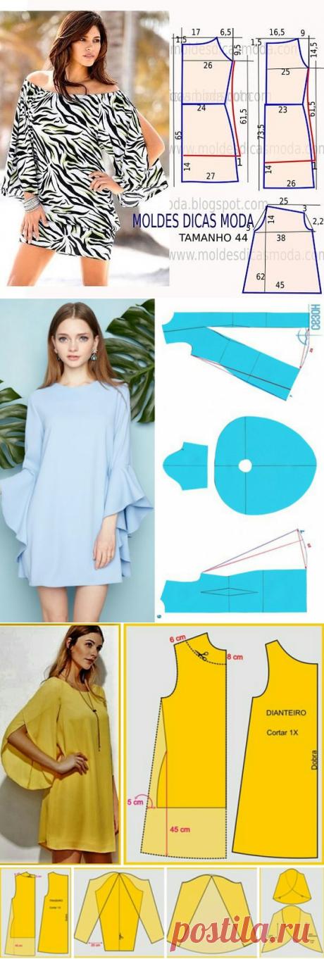 Моделирование платьев с оригинальными рукавами — Сделай сам, идеи для творчества - DIY Ideas