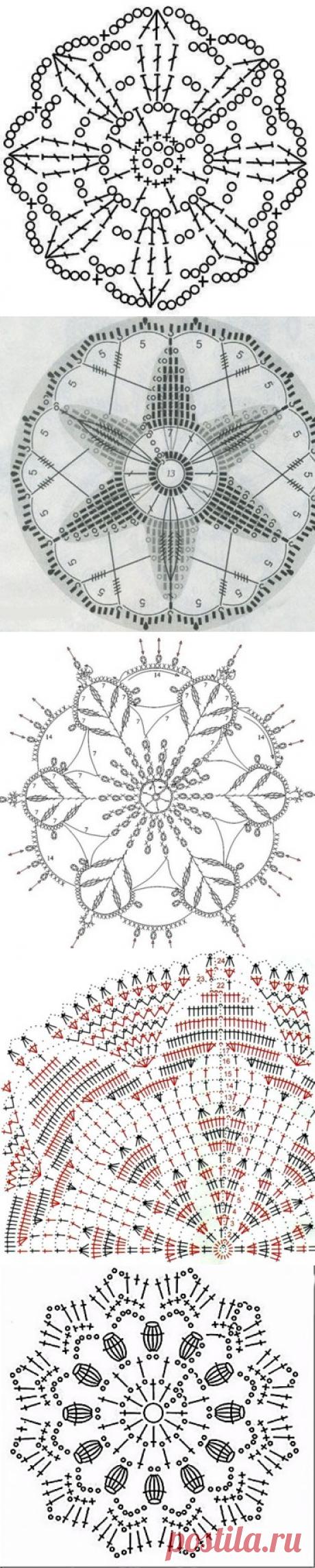 Круглые мотивы крючком по схеме с описанием (Уроки и МК по ВЯЗАНИЮ) — Журнал Вдохновение Рукодельницы
