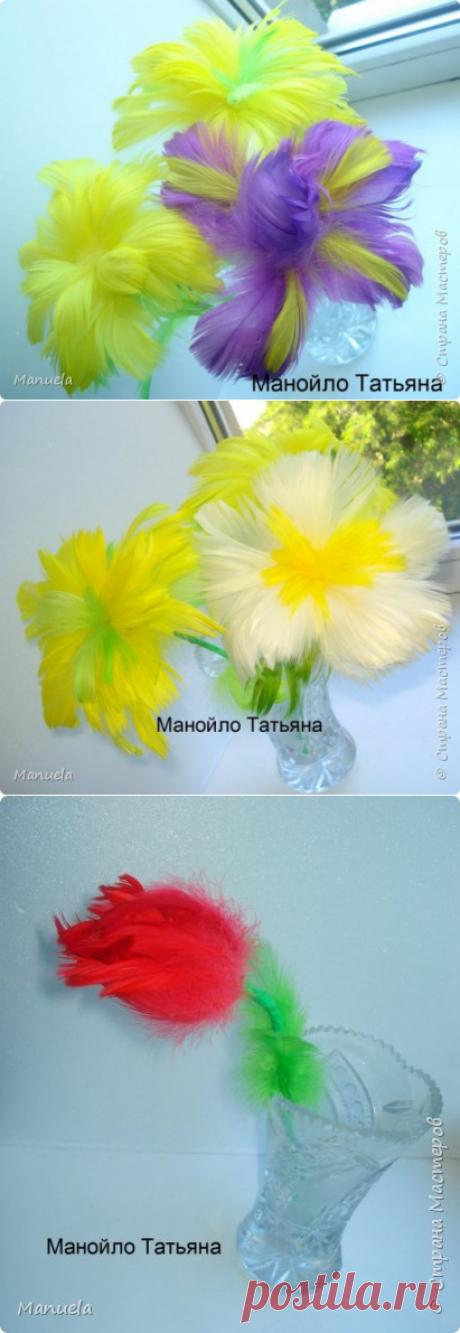 Цветы из перьев и как я их делала! | Страна Мастеров