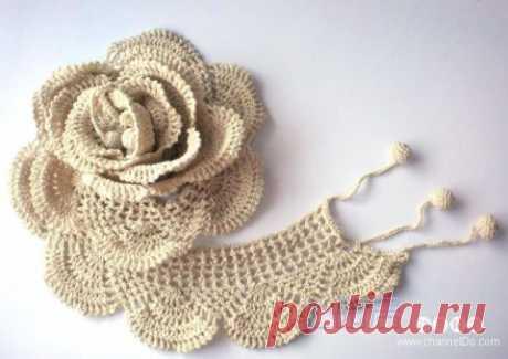 Шарфик-роза - Вязаные шарфы