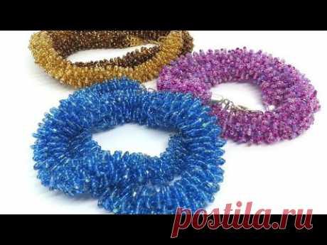 Ажурный жгут из бисера/ Бисероплетение/Harness from beads/Diy/