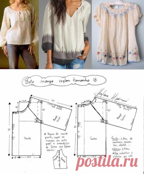 Выкройка блузки – отличный фасон! (Шитье и крой) – Журнал Вдохновение Рукодельницы