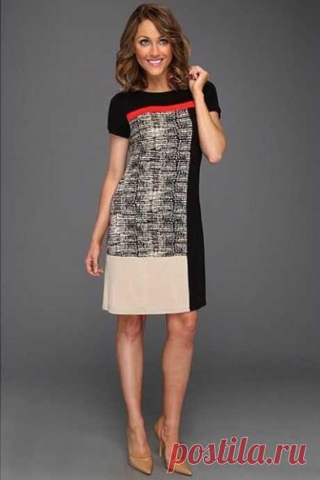 Выкройка удобного платья с коротким рукавом (Шитье и крой) – Журнал Вдохновение Рукодельницы