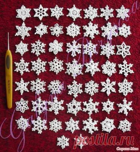 Снежинки размер 7 см и до 3 см_для вдохновения