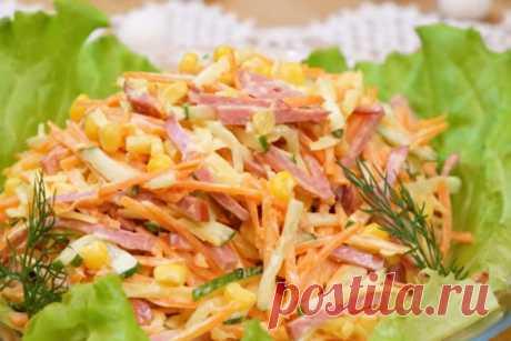 Экспресс-салат Венеция. Быстрый и сытный салат на праздничный стол. Видео Читать далее...