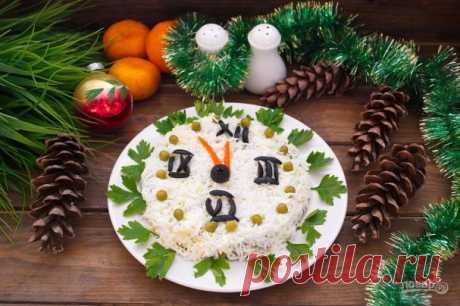 """Новогодний салат """"Куранты"""" - пошаговый рецепт с фото на Повар.ру"""