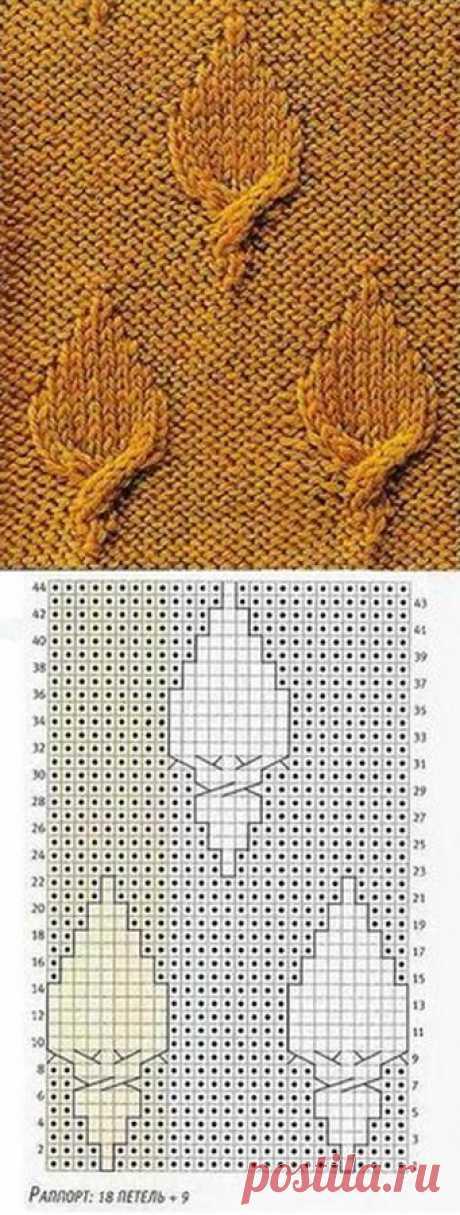 Большая подборка узоров вязания спицами » Женский Мир