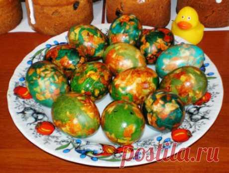 Как покрасить яйца зеленкой на Пасху своими руками