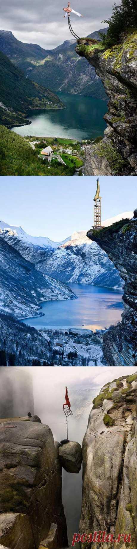 Норвежец Эскил Роннингсбаккен демонстрирует невероятные трюки на краю пропасти. У него даже есть ученики, желающие постигнуть науку бесстрашия и силы…