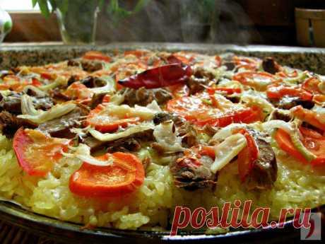 Original and fast dish pizza pilaf!