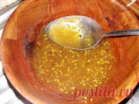 Маринад для шашлыков с добавлением горчицы и меда