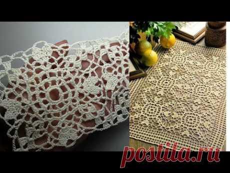 Crochet Square Loose Pattern Кружевной мотив крючком