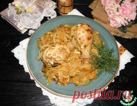 Курица на капусте – кулинарный рецепт