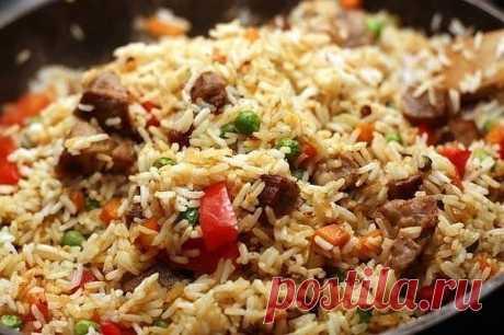 Рис со свининой и овощами..