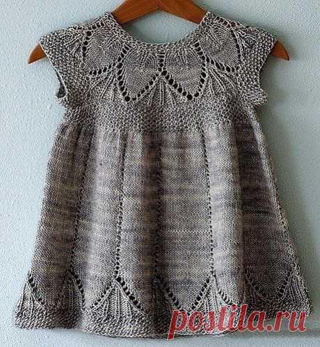 Вяжем нежное платье для девочки