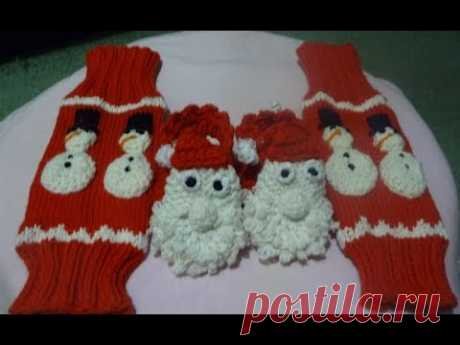Гетры, перчатки и варежки для деток и их мам, связанные спицами/ Каталог моих работ/ Crochet