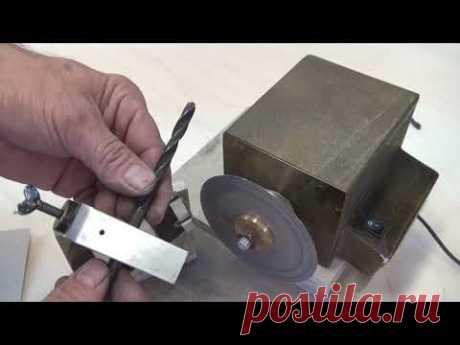 Самодельный станок для заточки свёрл HANDMADE MACHINE FOR SHARPENING OF DRILL BITS